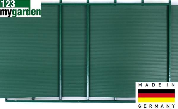 easy pvc sichtschutzstreifen gr n 190 x 2525 mm hnl ral 6005