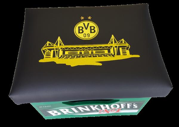 Bierkastenaufsatz, Sitzkissen, BVB 09 Borussia Dortmund Fanartikel
