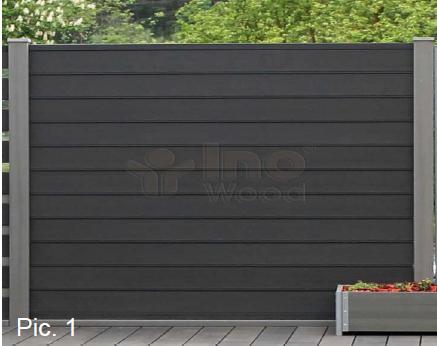 Wpc Sichtschutz Zaun Set Inovation Mit 2 Pfosten Shop