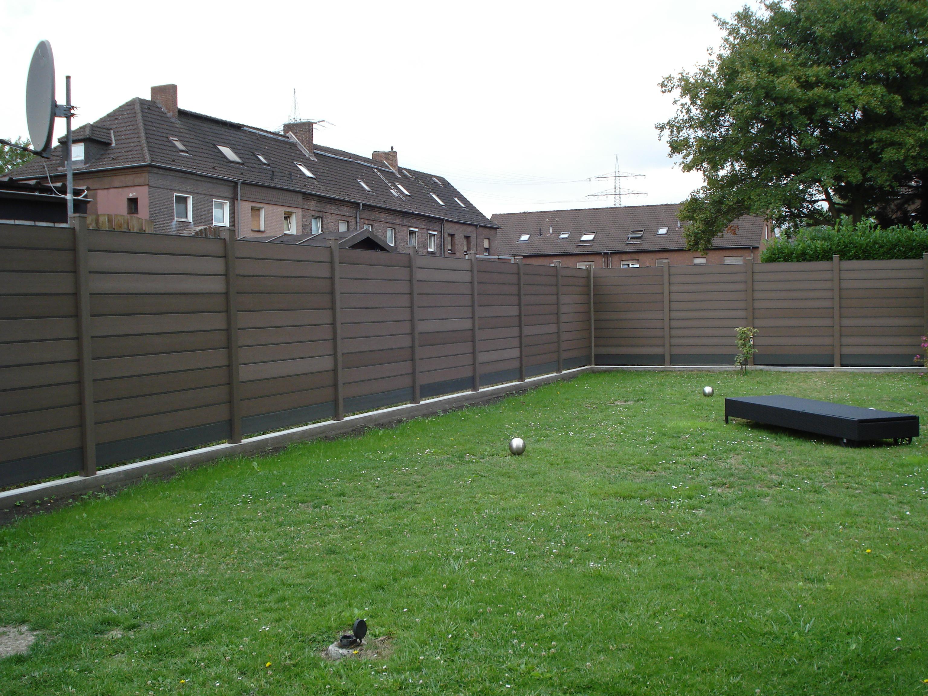 Wpc Sichtschutz Zaun Set Inovation Mit 1 Pfosten Shop