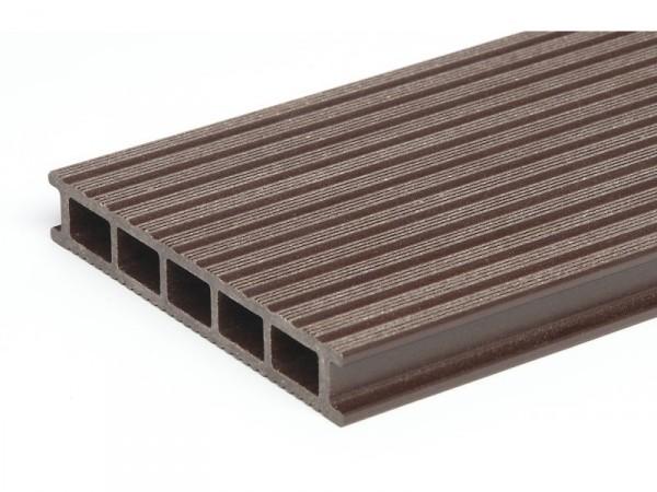 WPC Dielen Terrassendielen Hohlkammerdielen dunkelbraun günstig online vom Hersteller kaufen