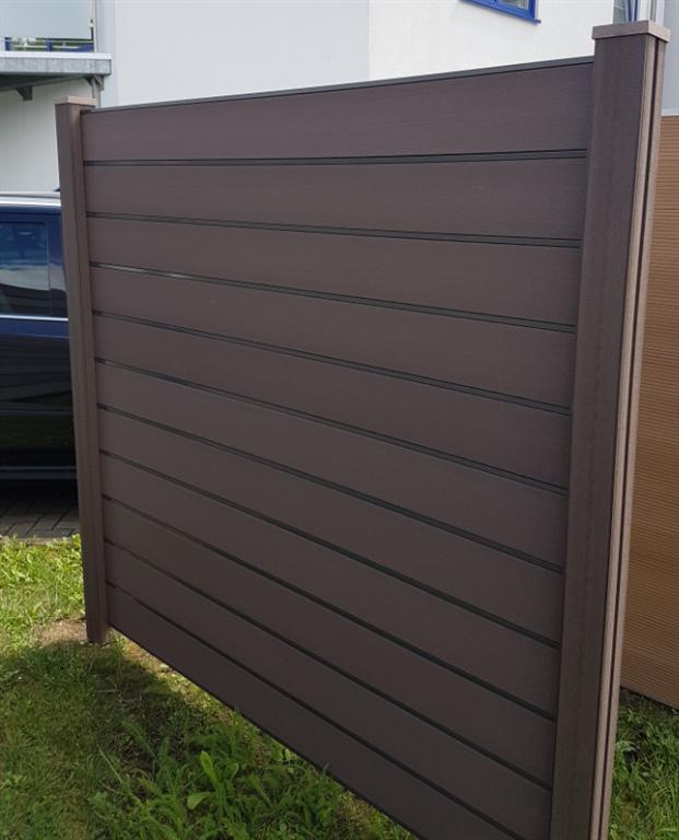 Häufig WPC Sichtschutz Zaun Set Inovation mit 1 Pfosten Shop MN06