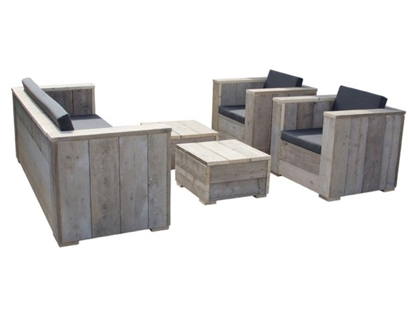 Dutch Wood Block Lounge Set Holzbank / Gartenbank Shop