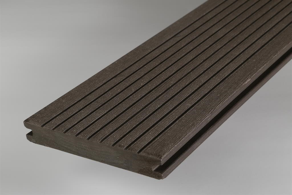 wpc terrassendiele volldiele inovation braun 138 x 19 mm im. Black Bedroom Furniture Sets. Home Design Ideas