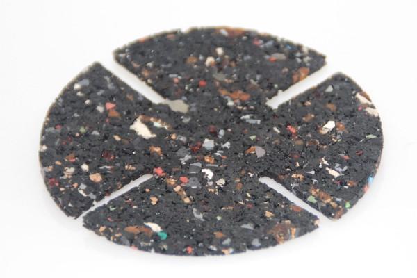 Gummigranulat Pad f. Stellfüße Steinplatten Fliesen